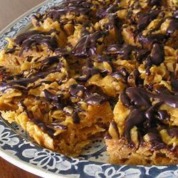 Peanut Butter Cornflake Crunch Bars