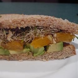 Avocado and Orange Sandwich