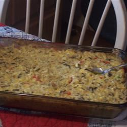 Chicken and Wild Rice Casserole Texasfairbaker