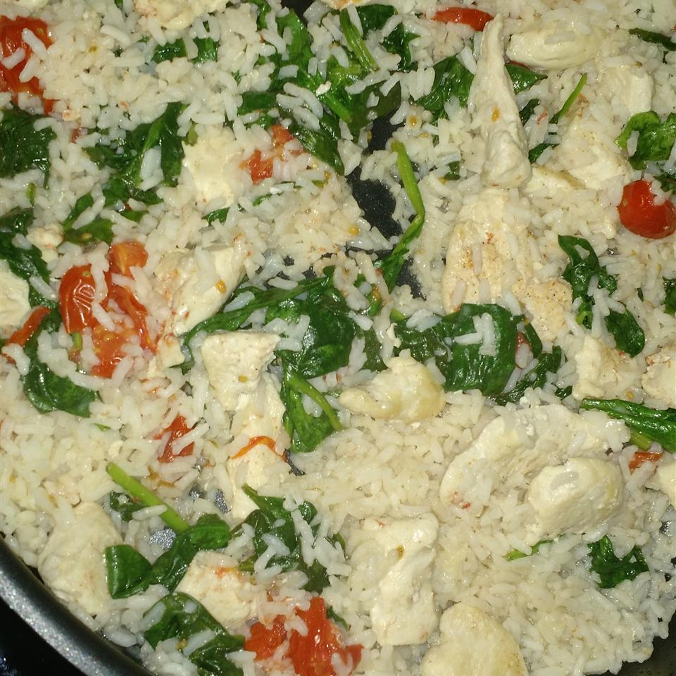 Quick Chicken and Spinach Risotto Lila