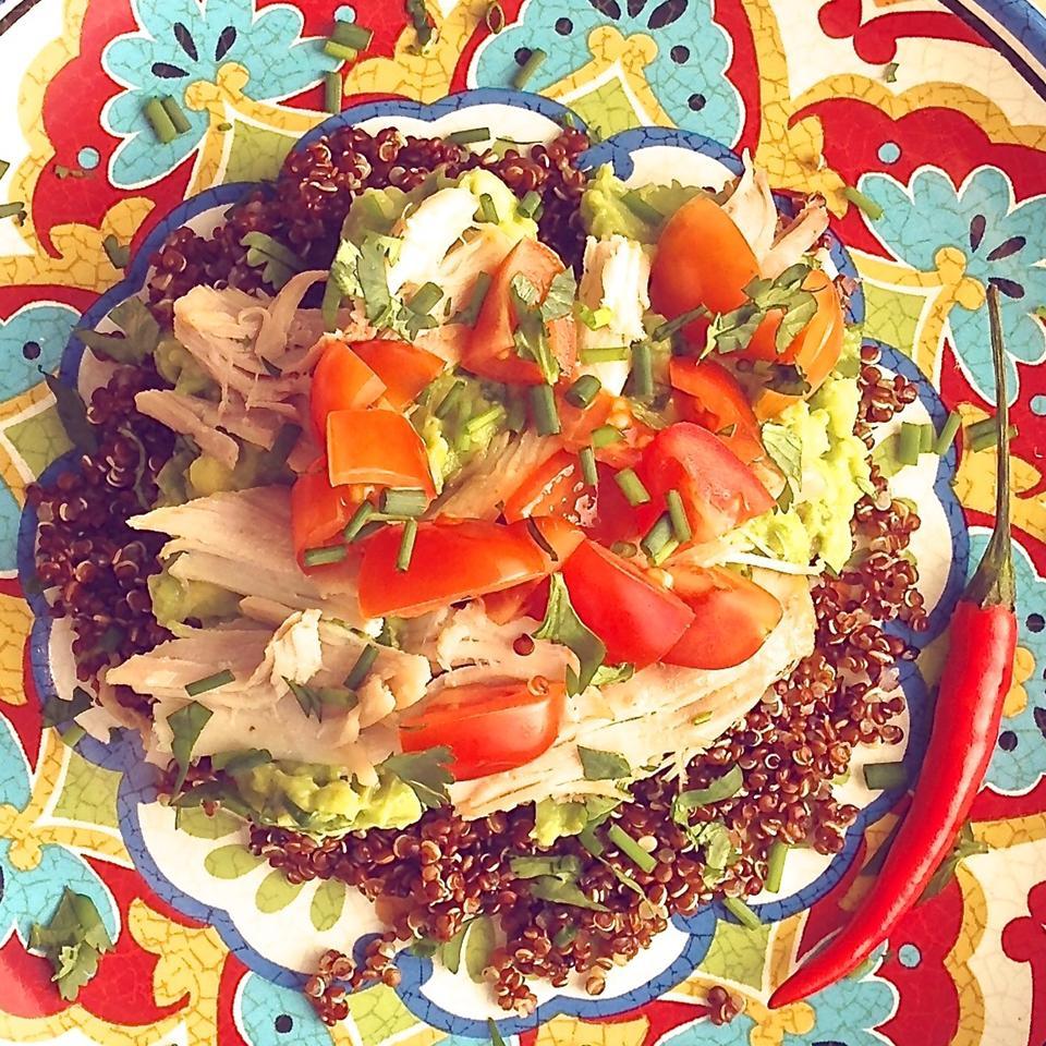 Cold Chicken Quinoa Avocado Salad Sroch