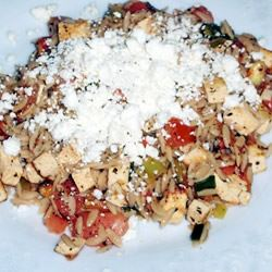 Orzo with Tomato and Fried Tofu Jim F