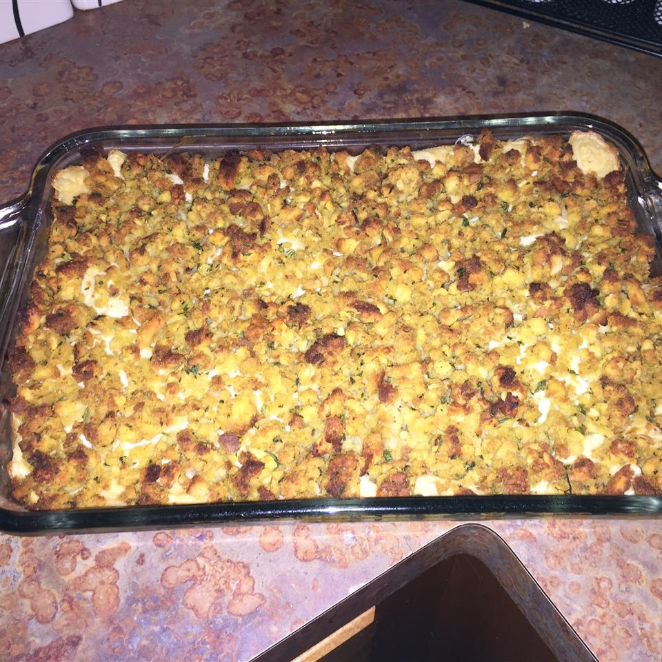Rotisserie Chicken and Stuffing Casserole Tricia Bell King