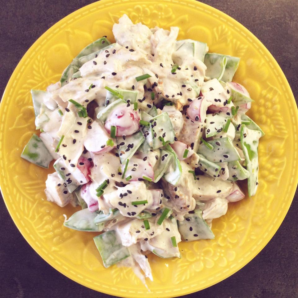 Chicken and Snow Pea Salad Buckwheat Queen