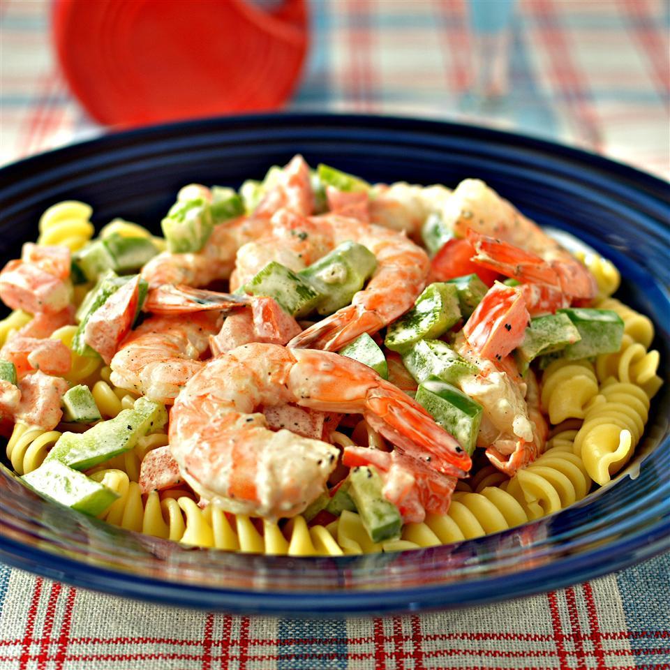 Simple Shrimp Pasta Salad_image