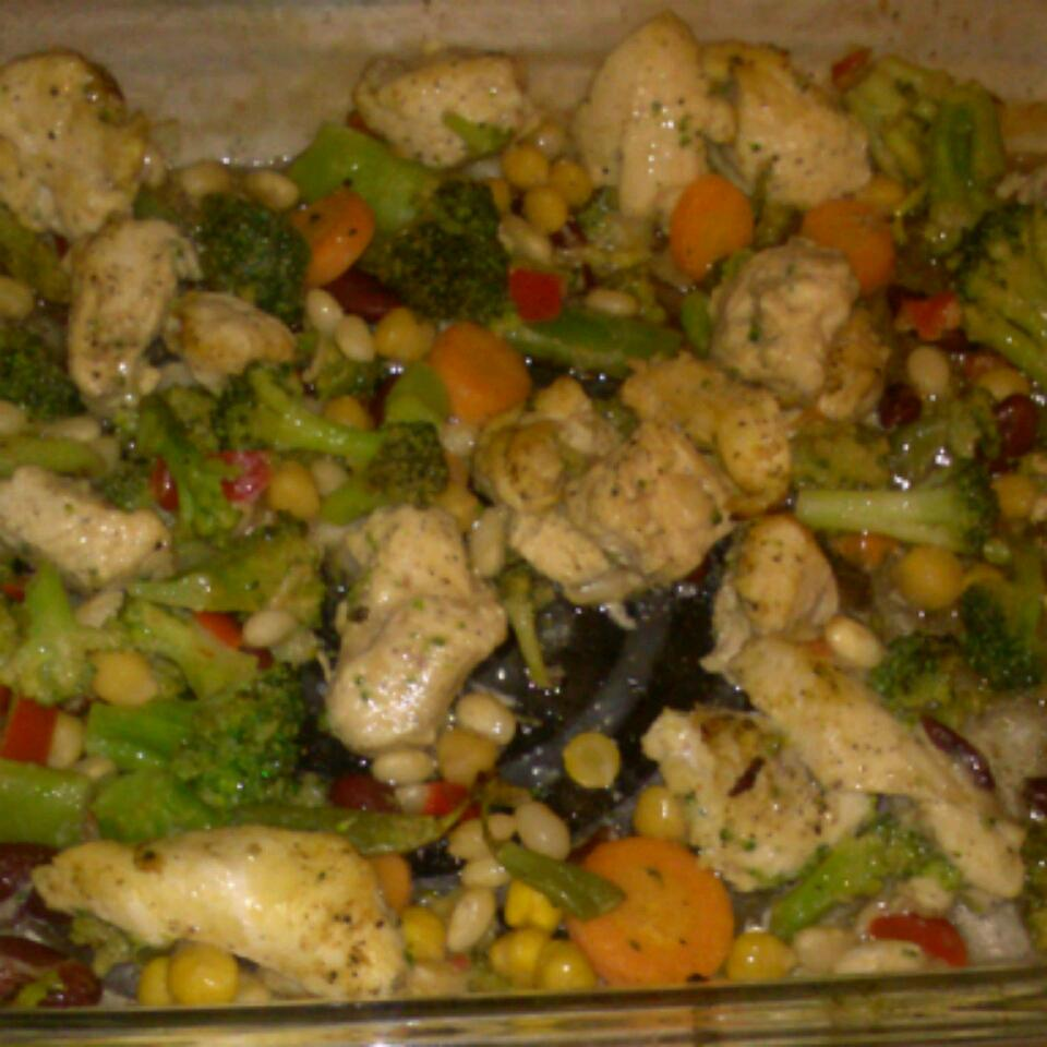 Oven-Grilled Chicken and Vegetables ajasmith