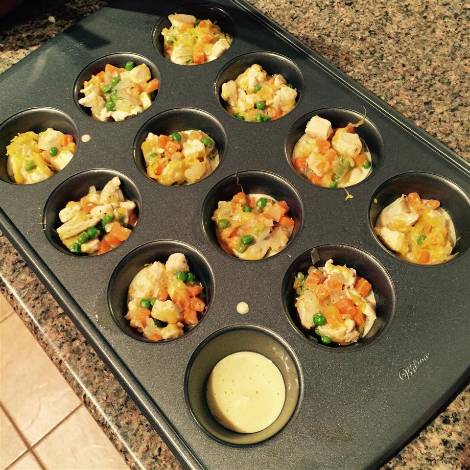 Impossibly Easy Mini Chicken Pot Pies