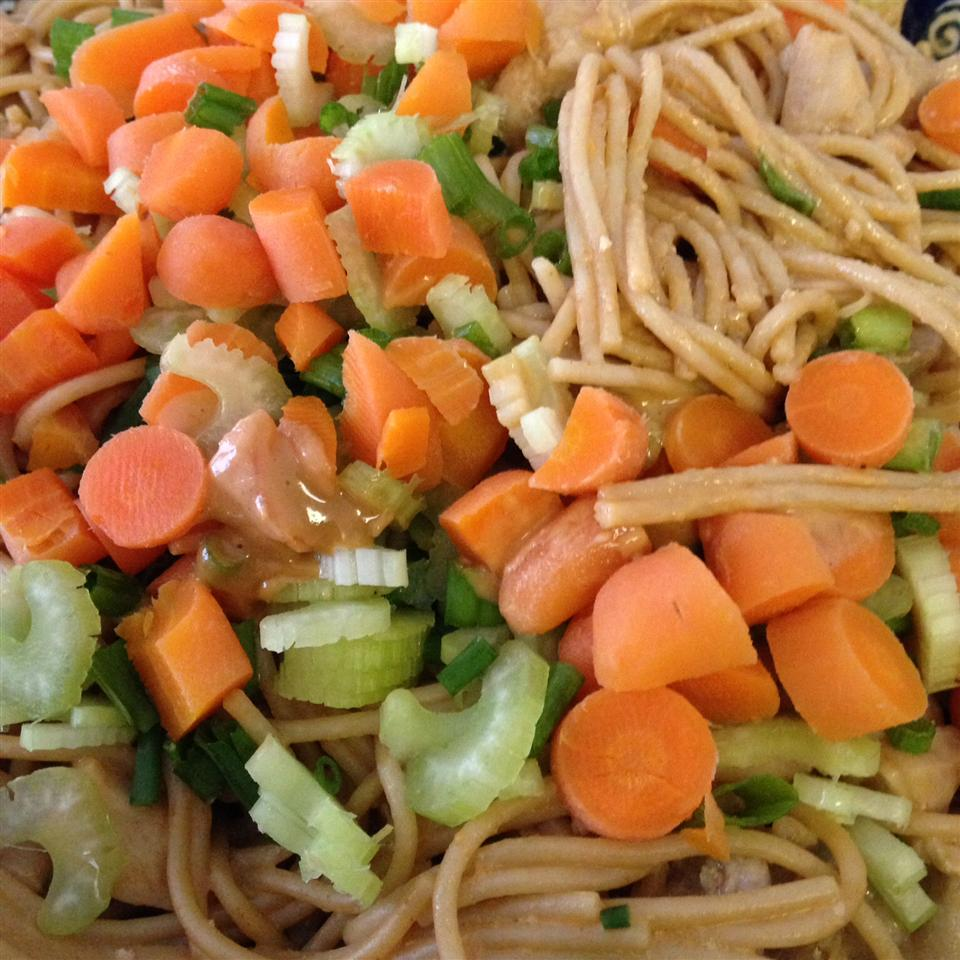 Chicken Noodle Salad with Peanut-Ginger Dressing Camille