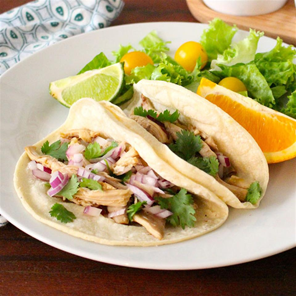 Slow Cooker Pulled Chicken Tacos Recipe Allrecipes