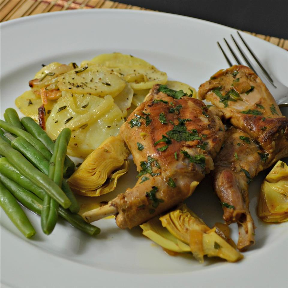 Seared Rabbit with Rosemary Potatoes