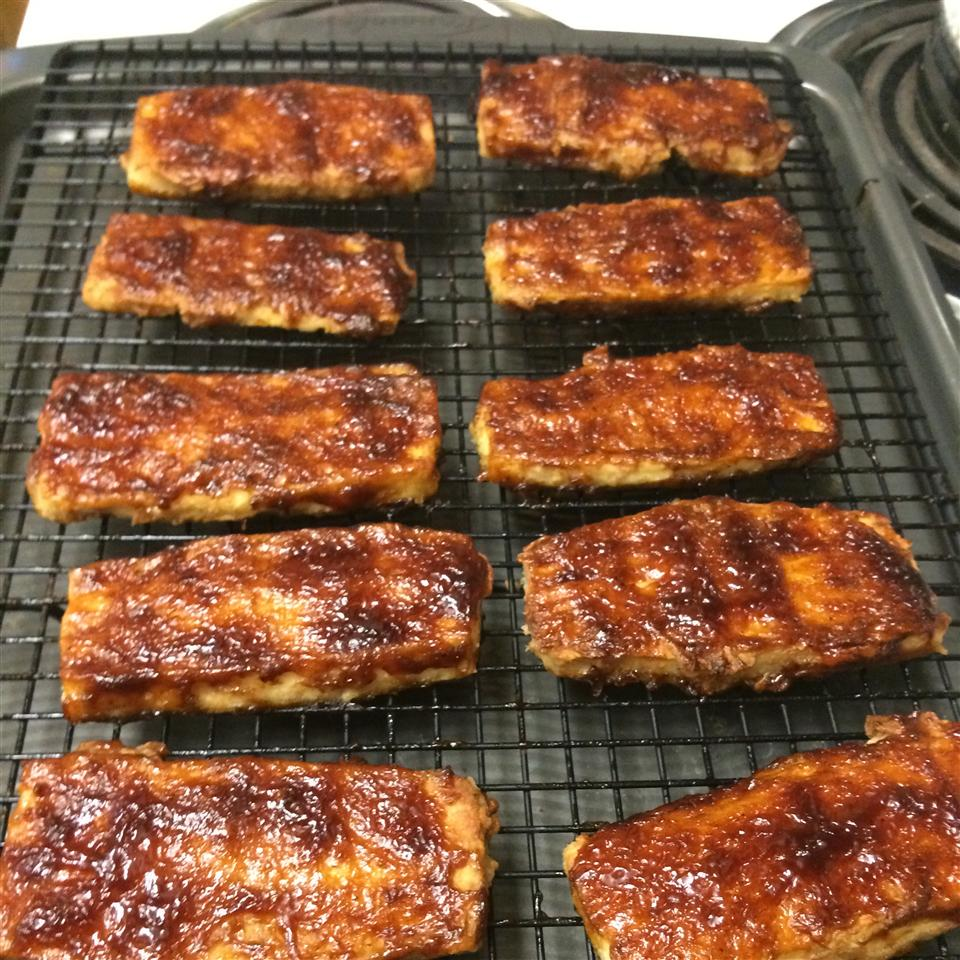Crispy Barbequed Tofu Slices