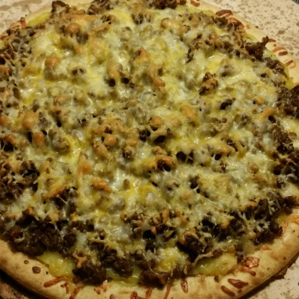 Quick Beef Pizza image