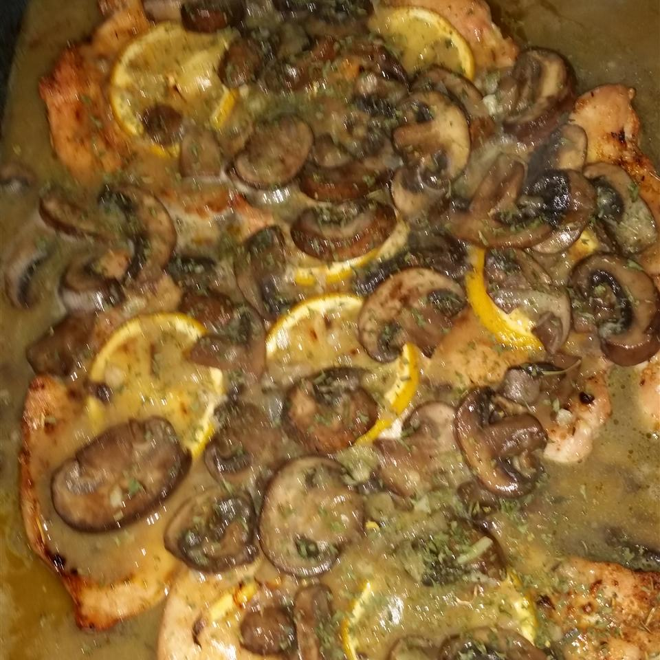 Baked Lemon Chicken with Mushroom Sauce