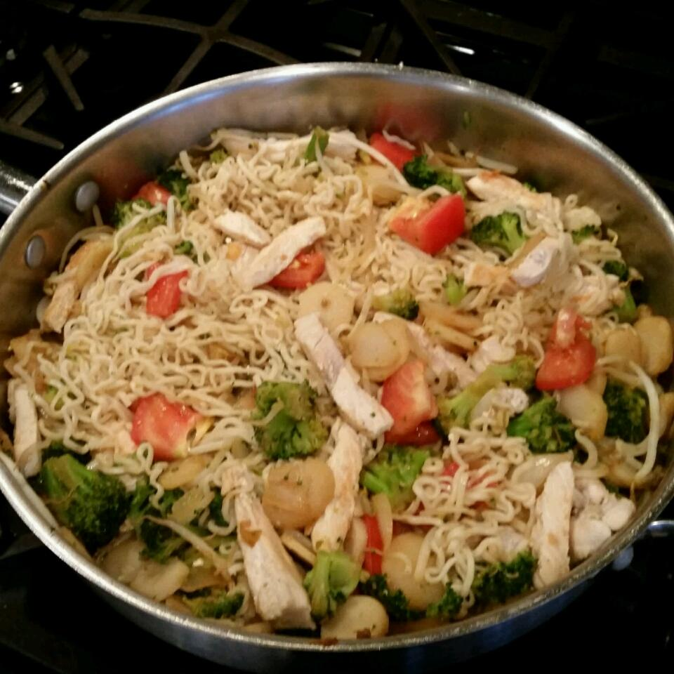 Ramen Noodle Stir-Fry with Chicken and Vegetables Doug Still