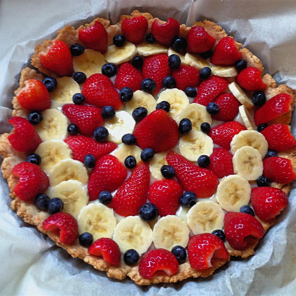 Banana Kiwi Strawberry Tart image