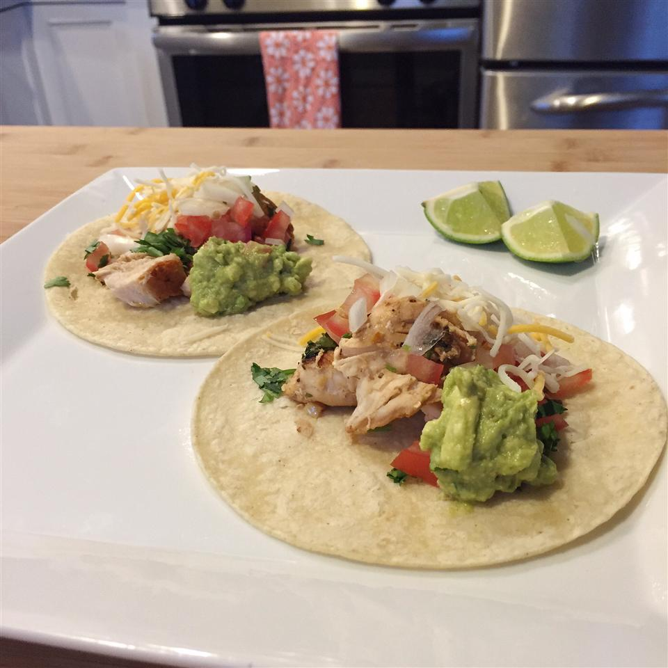 Lime Chicken Soft Tacos jessicawalla