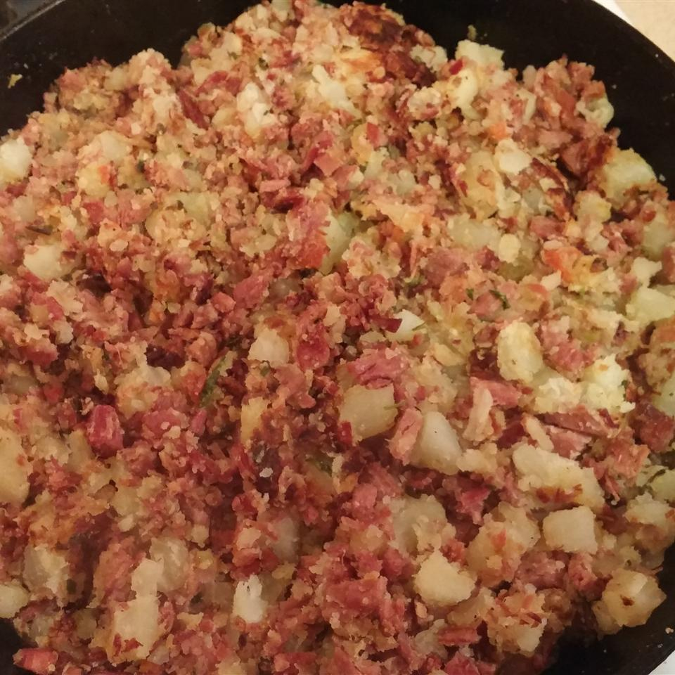Chef John's Corned Beef Hash Kia Mamamia Moran