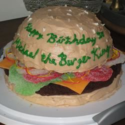 Enjoyable Hamburger Cake Allrecipes Funny Birthday Cards Online Aeocydamsfinfo
