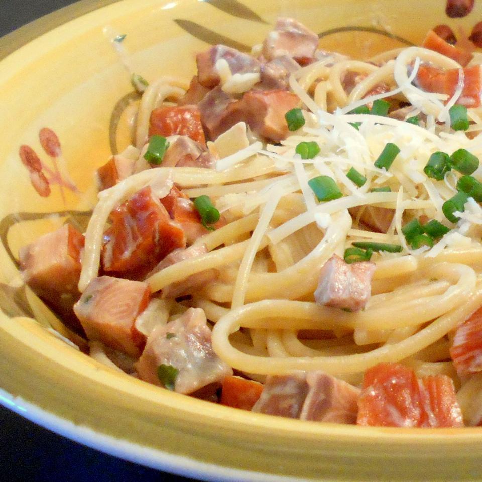 Easy Smoked Salmon Pasta image