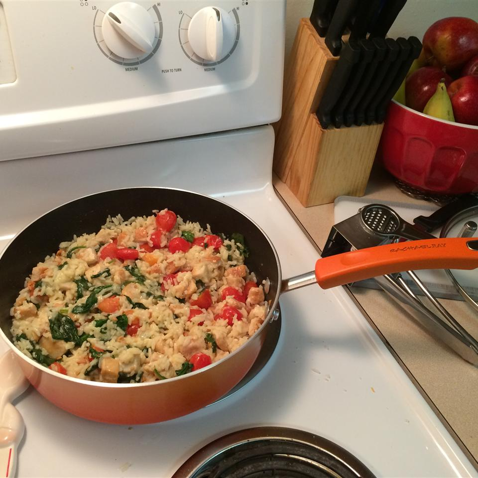 Quick Chicken and Spinach Risotto AOKendrick