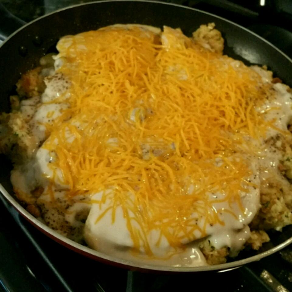 Chicken and Stuffing Skillet