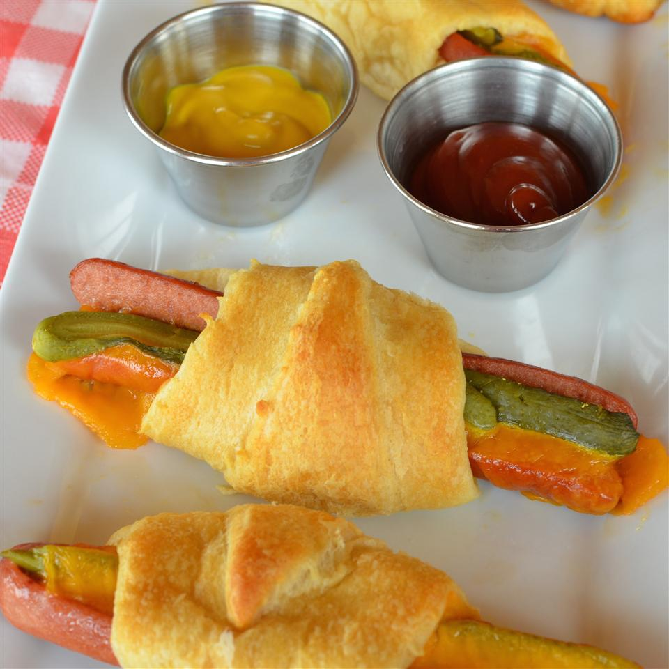 Easy Cheesy Hot Dog Crescent Rolls image