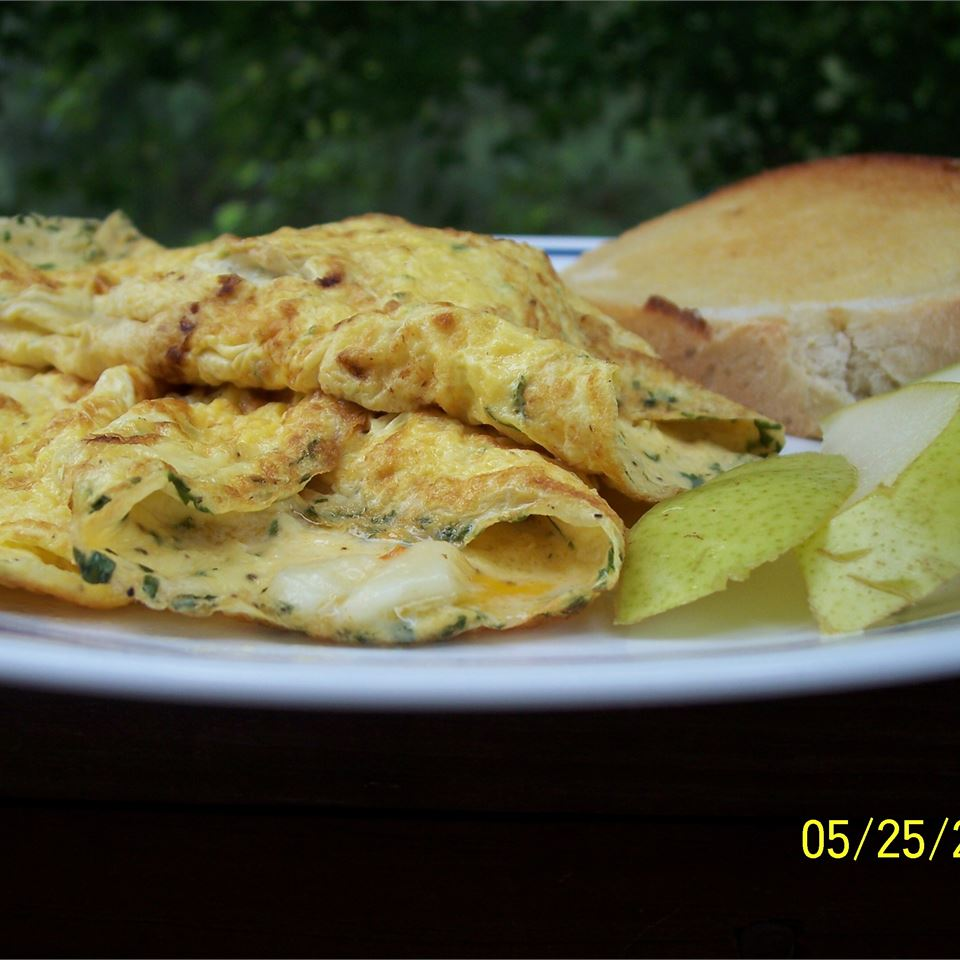 Egyptian Feta Cheese Omelet Roll image