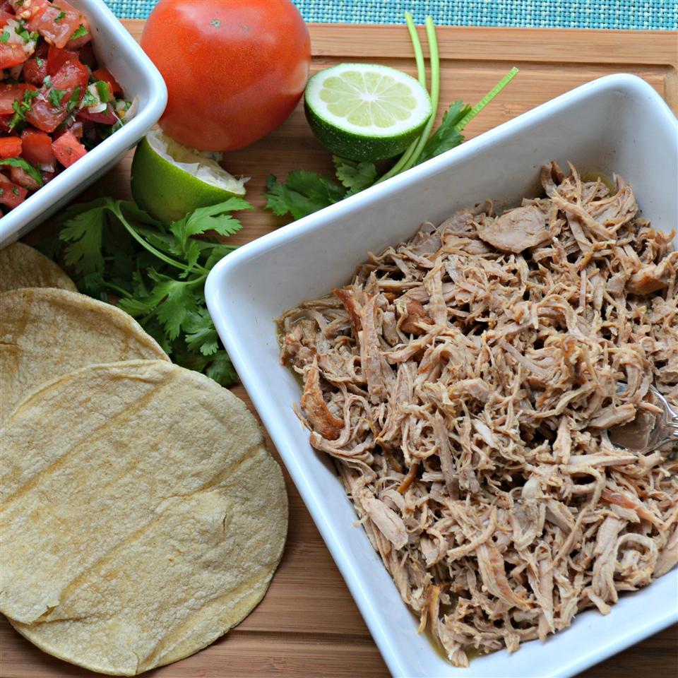 Slow Cooker Puerto Rican Shredded Pork - Printer Friendly