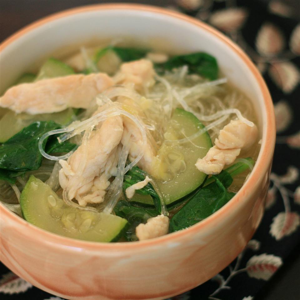 Garlic Spinach Soup miskyn