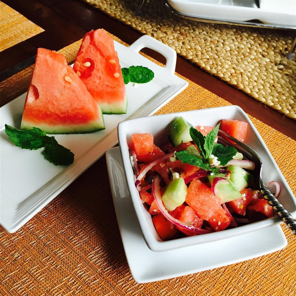 Refreshing Cucumber Watermelon Salad - Printer Friendly