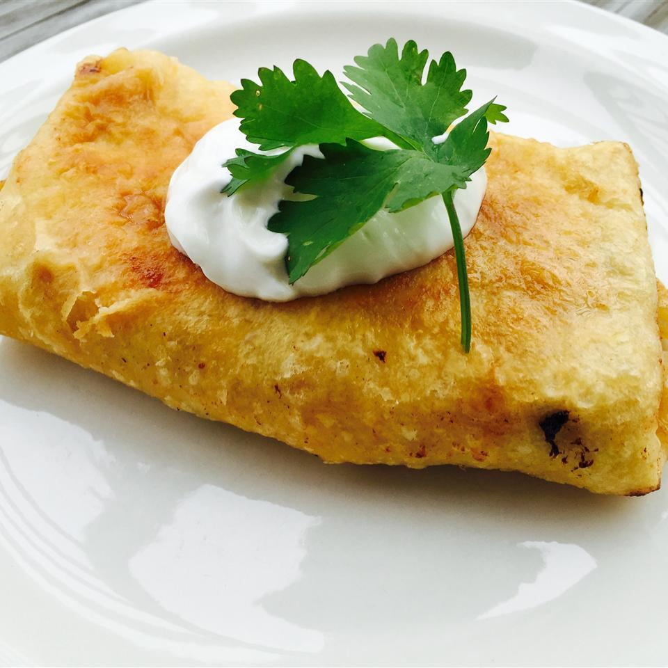 Chicken Chimichangas with Sour Cream Sauce SSTRAWDER