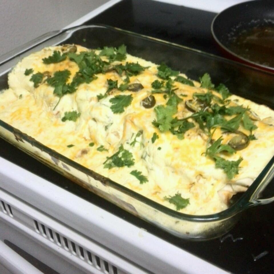 Low-Fat Sour Cream Chicken Enchiladas CourtneyR