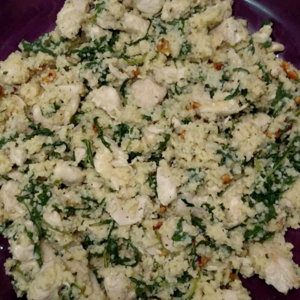 Arugula, Chicken, and Walnut Couscous Kathy M