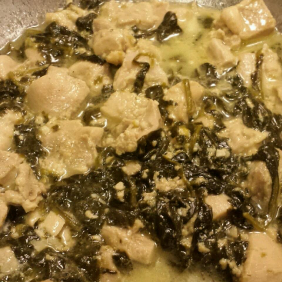 Chicken and Kale in Parmesan Cream Sauce Jj361