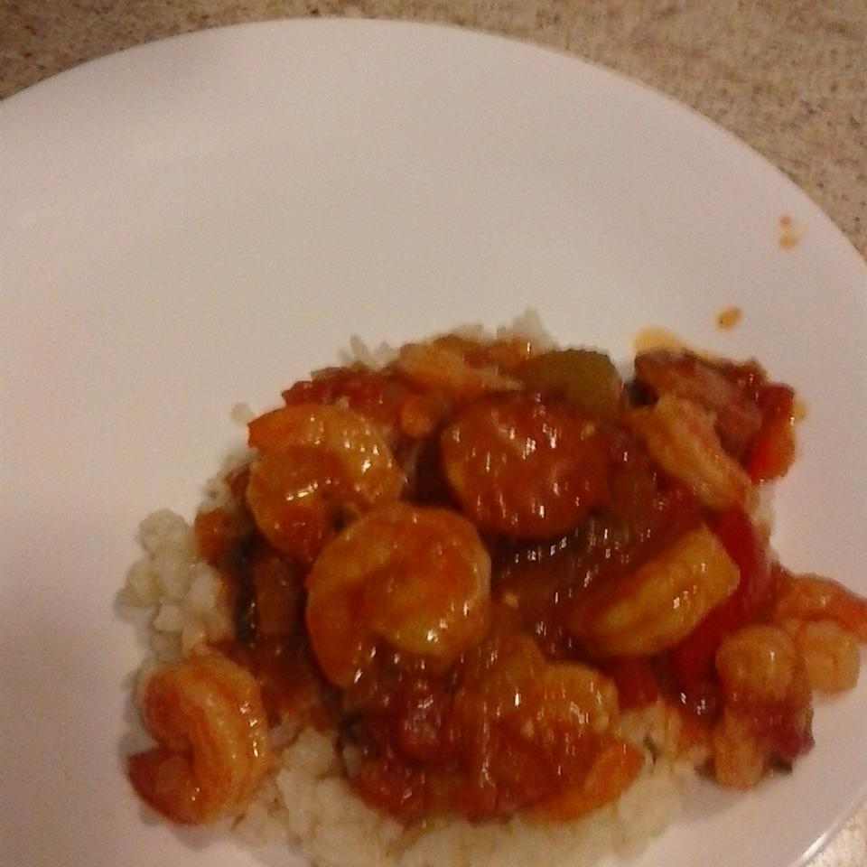 Andouille, Shrimp, and Chicken Jambalaya