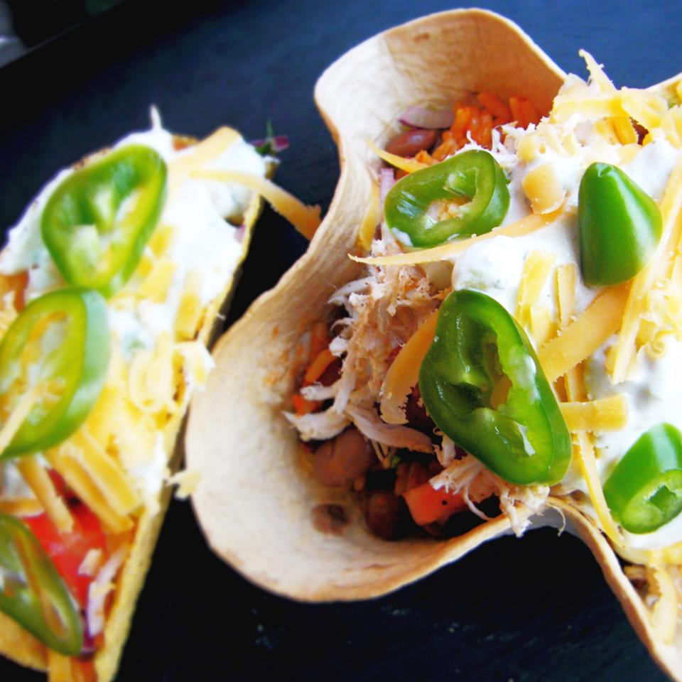 Chicken Taco Bowls Recipe: Chicken Taco Bowls With Pinto Beans And Rice Recipe