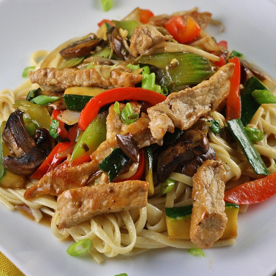 Stir-Fried Vegetables with Chicken or Pork Nishana Lee