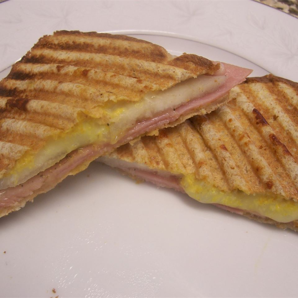 Ham and Pear Panini Janet H