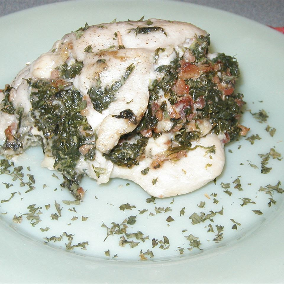 Chicken Breast Stuffed with Spinach Blue Cheese and Bacon Judy
