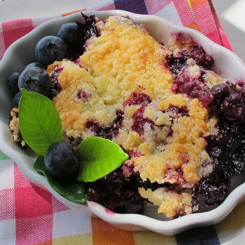 Warm Blueberry Cobbler