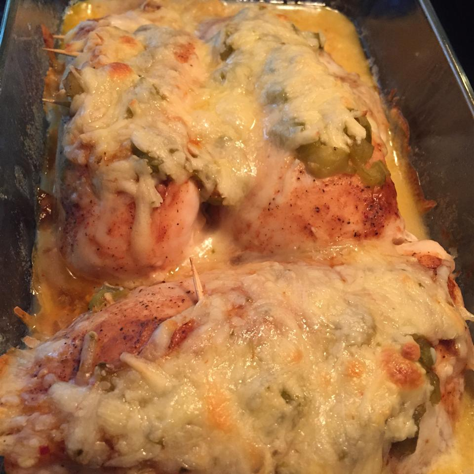 Green Chili and Cheese Chicken