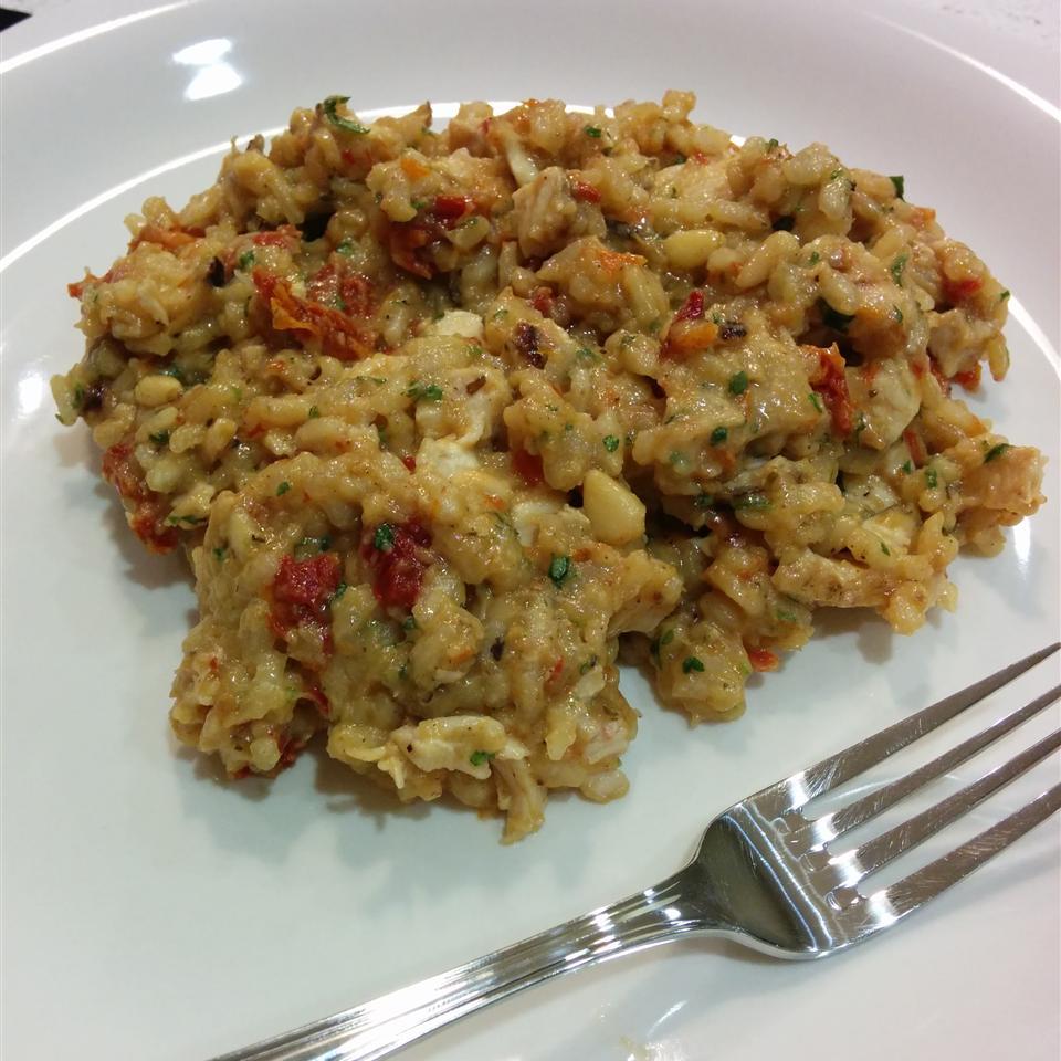 Risotto with Sun-Dried Tomatoes and Mozzarella