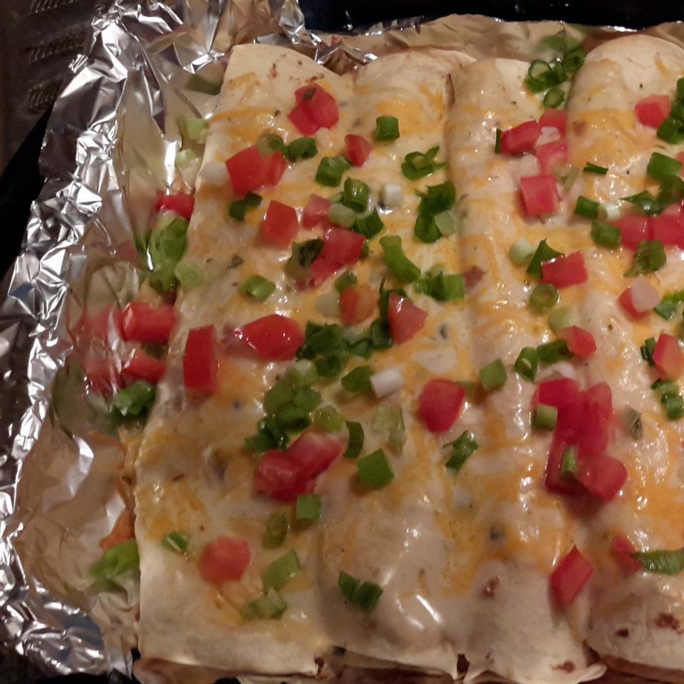 Cheesy Poblano Chicken Enchiladas MrsJM