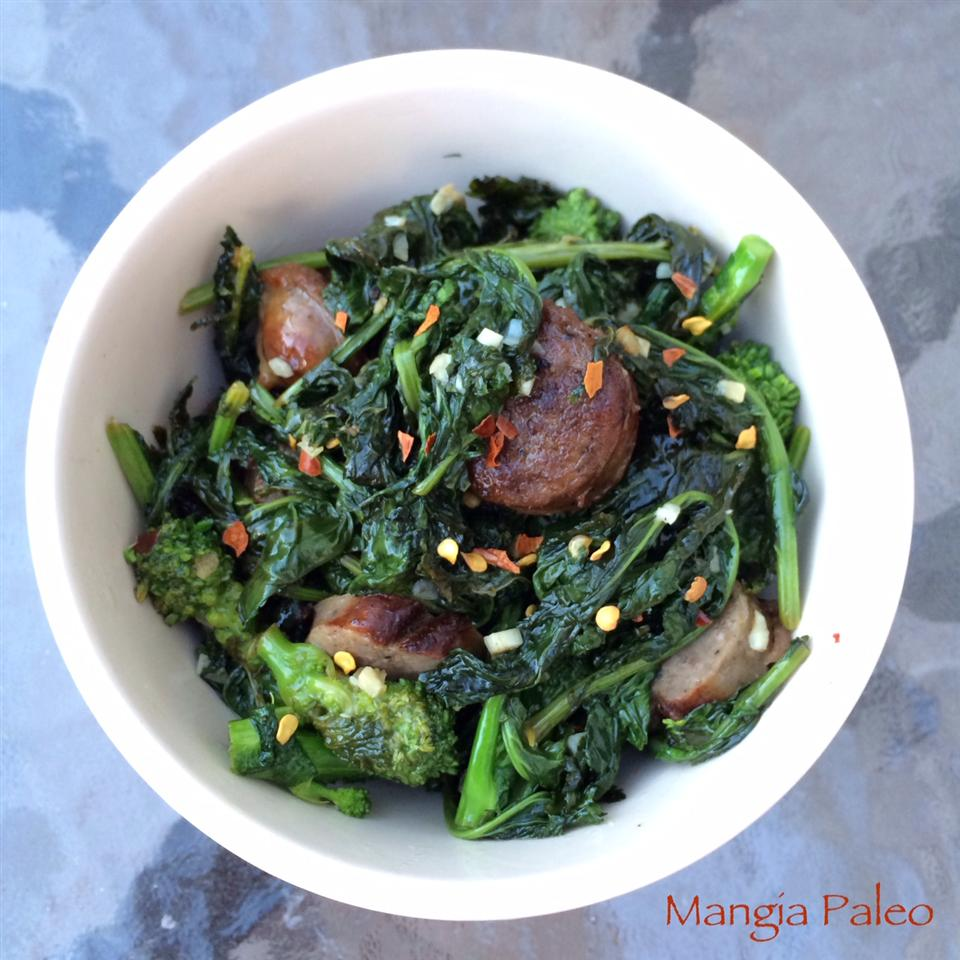 Paleo Broccoli Rabe and Sausage Mangia Paleo
