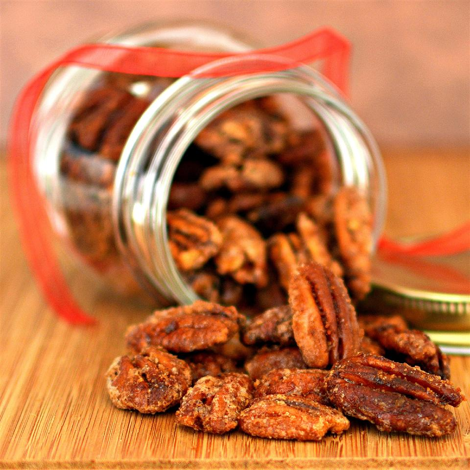 Crunching on these pecans, coatedincinnamon, cayenne, and sugar, satisfies pre-meal cravings. Better yet, you can bring a jar of this appetizer as a gift to your host, as our home cooks point out.Store in an airtight container for up to two weeks in the pantry or a month in the freezer.
