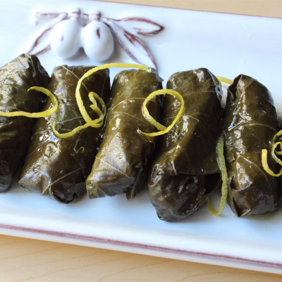 Lamb and Rice Stuffed Grape Leaves