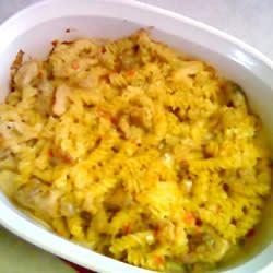 Baked Cheesy Veggie Chicken Pasta