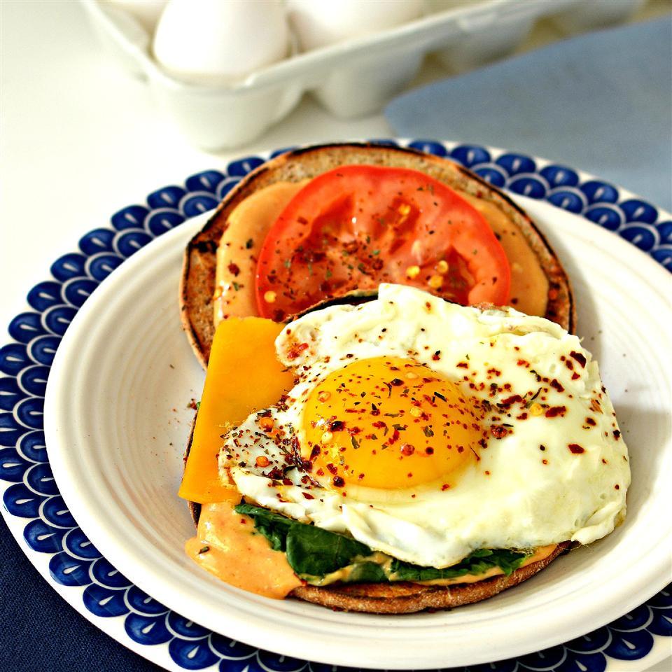 Cajun Fried Egg Sandwich
