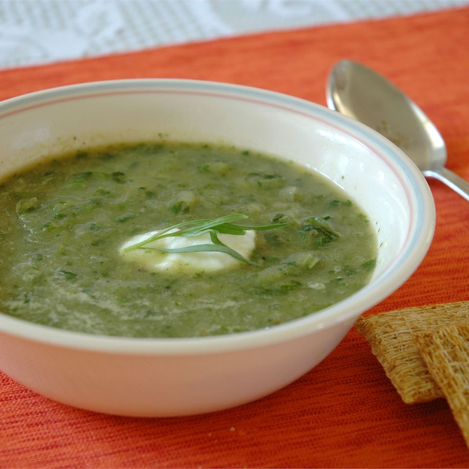 Lettuce and Tarragon Soup image