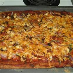 Chicken and Chourico Pizza Raquel Teixeira